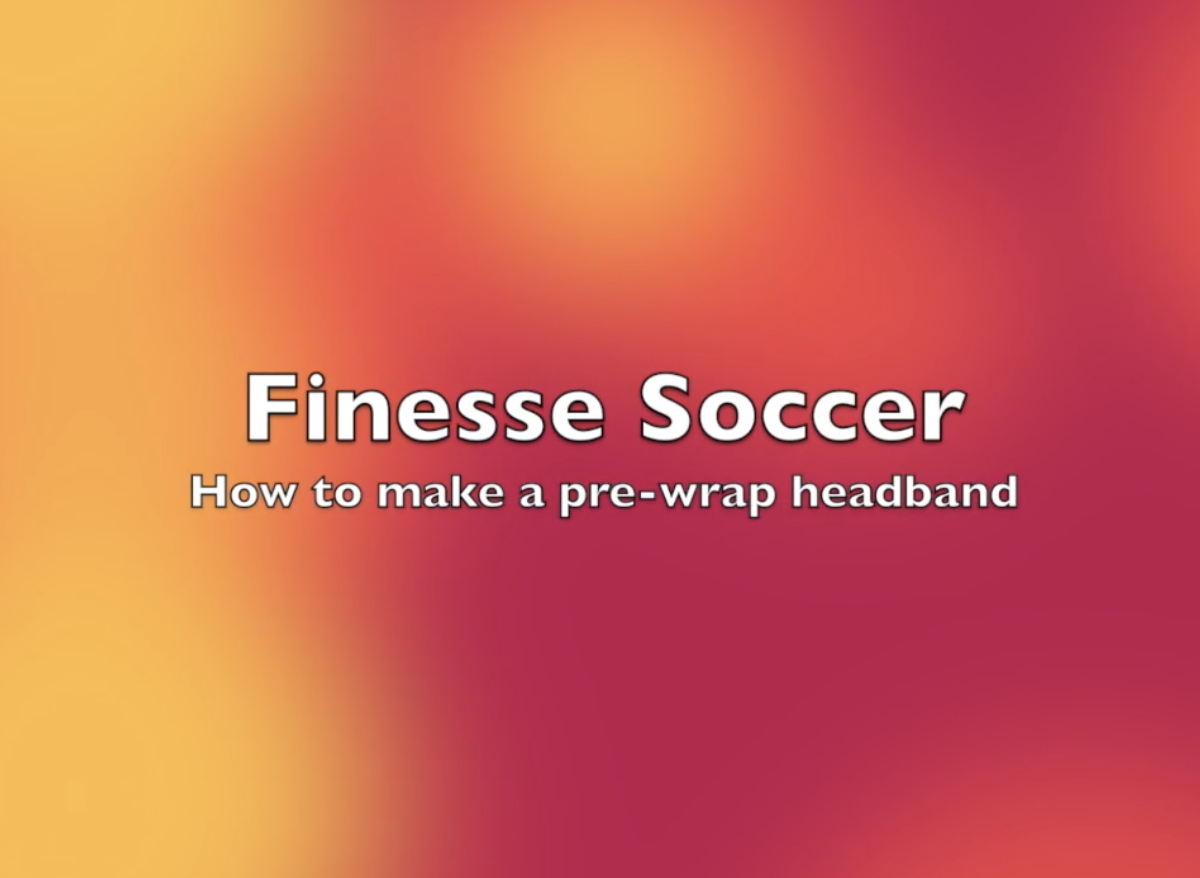 How to make a headband out of pre-wrap
